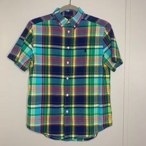 Ralph Lauren Plaid Boys Shirt L